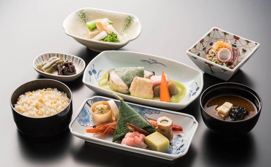 Image of Business class Japanese meal