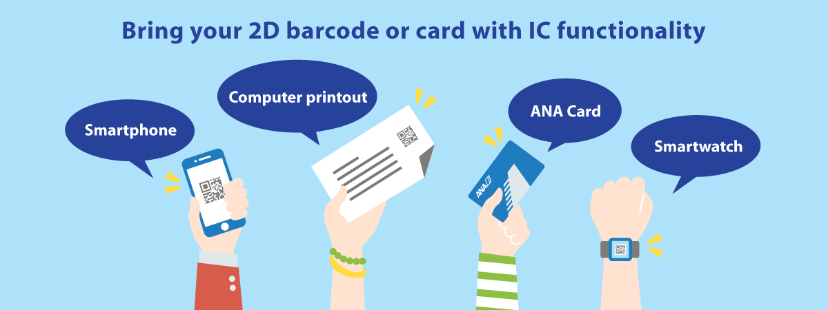 Bring your 2D barcode or card with IC functionality