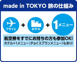 made in TOKYO 旅の仕組み