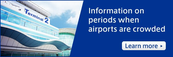 Information on periods when airports are crowded