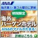 【ANA SKY WEB TOUR】海外バーゲンホテル