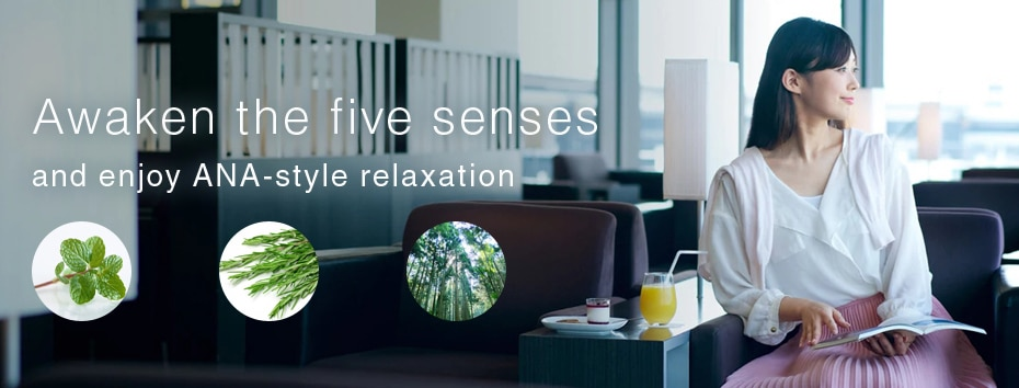 Awaken the five senses and enjoy ANA-style relaxation