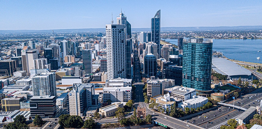 a landscape of Perth