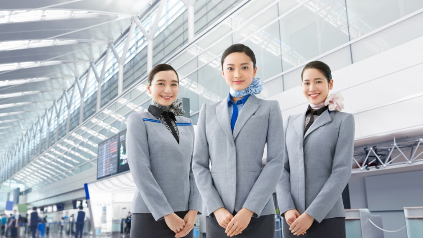 cabin crews and ground staffs of ANA