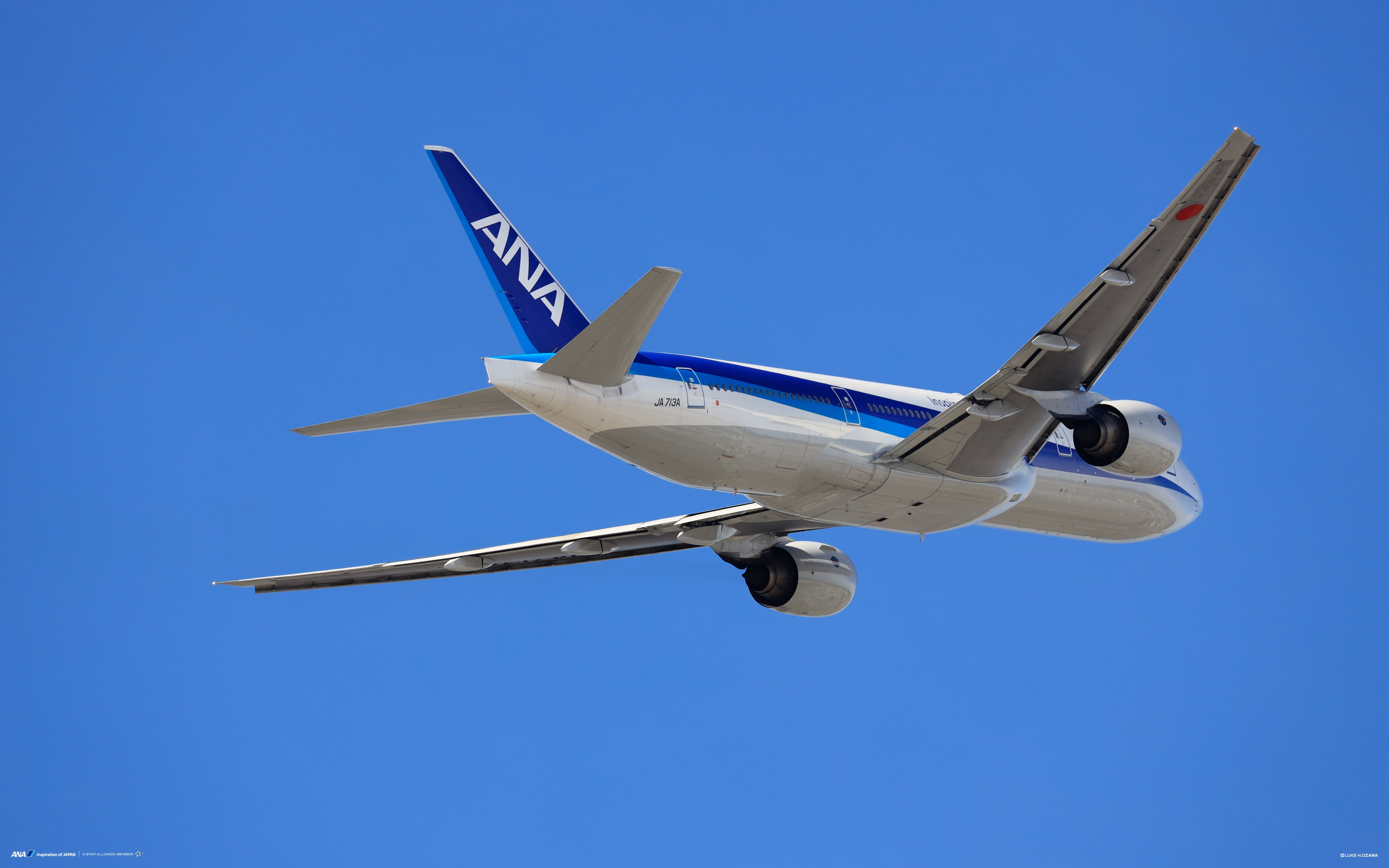Boeing 777 ANA aircraft