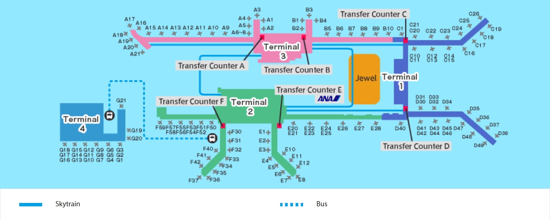 changi airport gate map Singapore Airport Airport And City Info At The Airport changi airport gate map