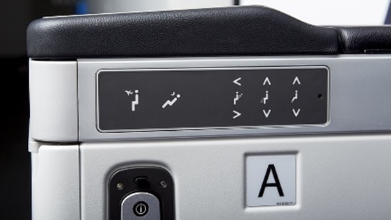 Electronic seat control panel