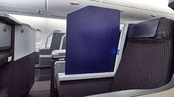 Movable partitions on pair seats