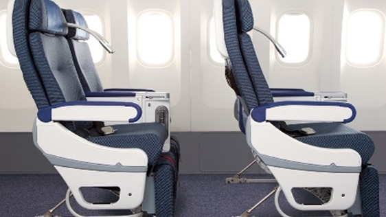 Spacious 38-inch seat pitch and 19.3-inch seat width