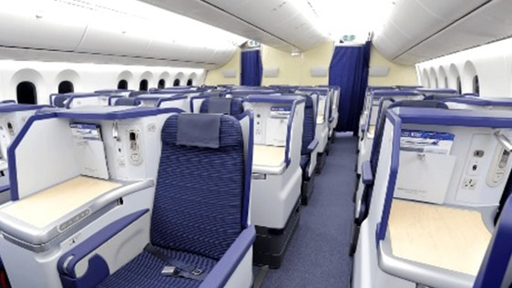 Photo of Staggered Seats of B787-9 (246/215-seat) Business Class seats